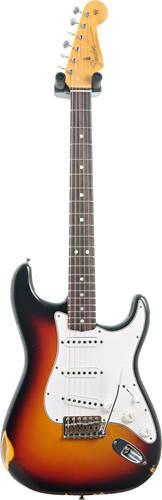 Fender Custom Shop 1965 Stratocaster Relic 3 Tone Sunburst Rosewood Fingerboard #R97788