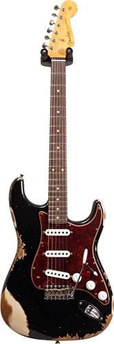 Fender Custom Shop 1961 Strat HEAVY RELIC Black over Desert Sand RW Master Builder Designed by Dale Wilson #R100391