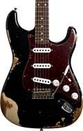 Fender Custom Shop 1961 Strat HEAVY RELIC Black over Desert Sand RW Master Builder Designed by Dale Wilson #R100437