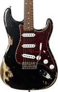 Fender Custom Shop 1961 Strat Heavy Relic Black over Desert Sand RW Master Builder Designed by Dale Wilson #R97928