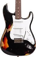 Fender Custom Shop 1961 Strat HEAVY RELIC Black over 3 Tone Sunburst RW Master Builder Designed by Dale Wilson #R100569