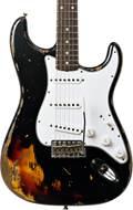 Fender Custom Shop 1961 Strat HEAVY RELIC Black over 3 Tone Sunburst RW Master Builder Designed by Dale Wilson #R100518