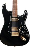 Fender Mahogany Blacktop Strat Black with Gold Hardware PF (Ex-Demo) #MX18185514