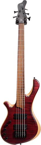 Mayones BE Elite 5 Flame Maple Top LH Dirty Red