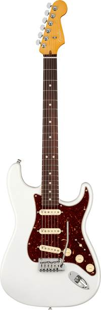 Fender American Ultra Stratocaster Arctic Pearl Rosewood Fingerboard