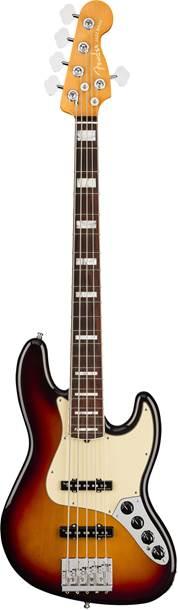 Fender American Ultra Jazz Bass V Ultraburst Rosewood Fingerboard