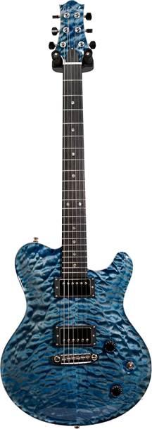 Nik Huber Dolphin II Atlantic Blue Exceptional Quilt Top #92996