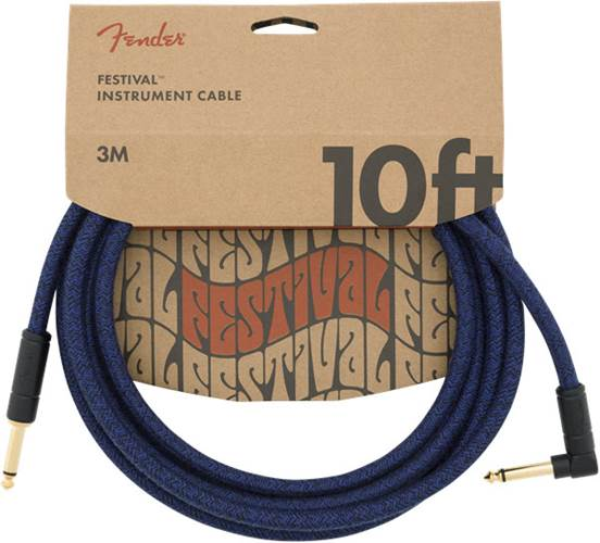 Fender Festival 10ft Instrument Cable, Blue Dream