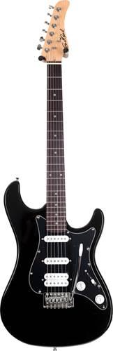 EastCoast GS100H Black Metallic PH HSS Black Scratch Plate
