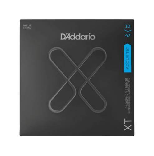 D'Addario XT Light Acoustic Phosphor Bronze 12-String 10-47