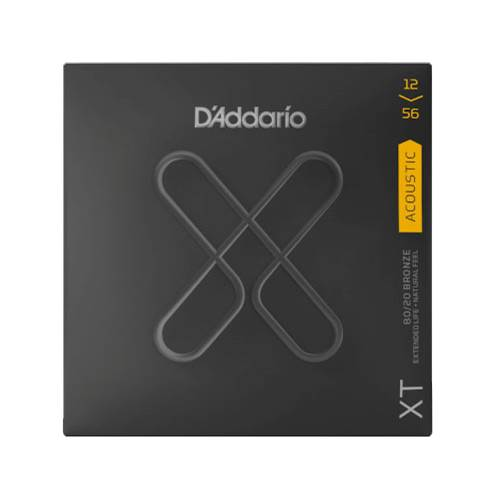 D'Addario XT Light Top/Medium Bottom Acoustic 80/20 Bronze 12-56