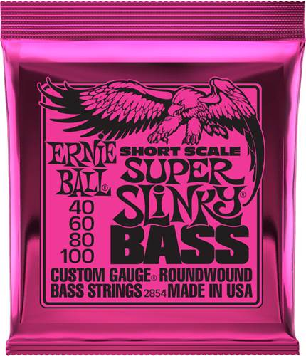 Ernie Ball 2854 Super Slinky Short Scale Bass 40-100