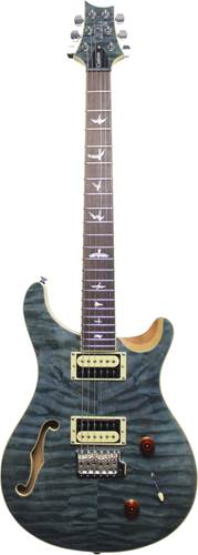 PRS SE Custom 22 Semi Hollow Whale Blue Natural Back Ltd Edition