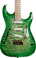 Pensa Guitars MK-1 7th Ave Light Green Burst Top Kryptonite Green Metallic Back #0850