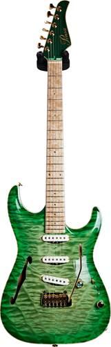 Pensa Guitars MK-1 7th Ave Light Green Burst Top Kryptonite Green Metallic Back #0850