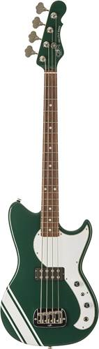 G&L USA Fallout Bass British Racing Green with White Racing Stripe