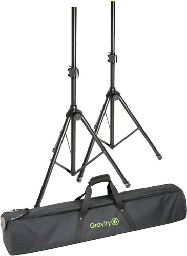 Gravity Set of 2 Speaker Stands w/Carrying Bag