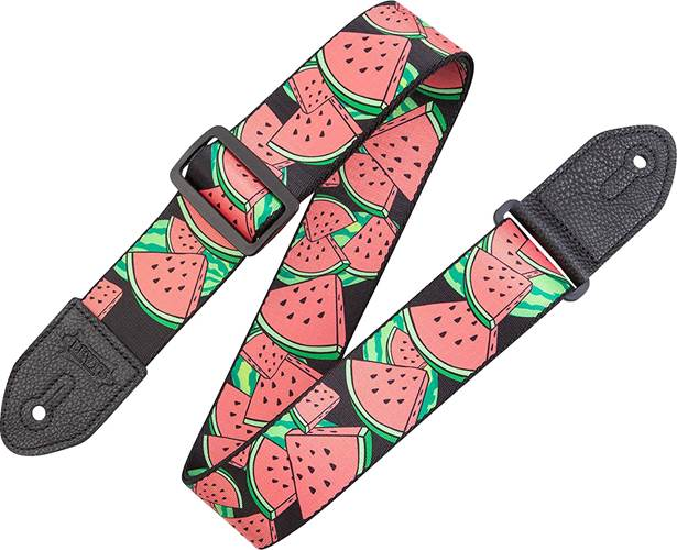 Levy's Prints Polyester w/ Leather Ends Fruit Salad Watermelon