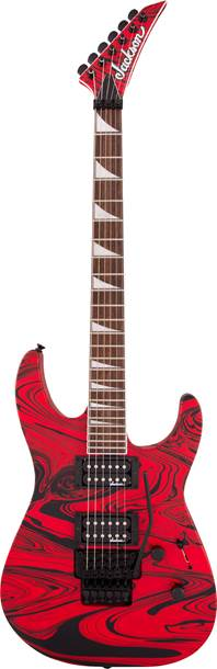 Jackson X Series SLXDX Soloist Satin Red Swirl