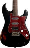 Friedman Vintage S Doubleburst Black over 3 Tone Sunburst
