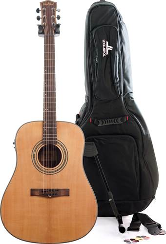 EastCoast D2SE Gloss Natural Acoustic Guitar Pack