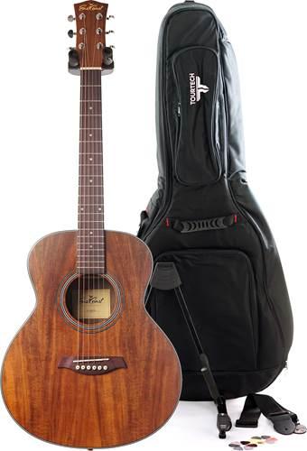 EastCoast GSM Koa Mini Acoustic Guitar Pack