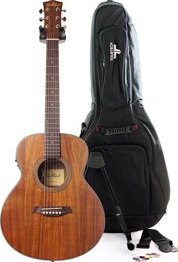 EastCoast GSM Koa E Mini Acoustic Guitar Pack