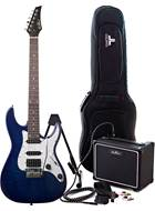EastCoast GDT230 Blue Quilt Electric Guitar Pack