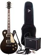 EastCoast GL130 Trans Black Electric Guitar Pack
