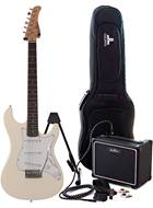 EastCoast GS100 Arctic White Electric Guitar Pack