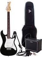 EastCoast GS100 Black Electric Guitar Pack