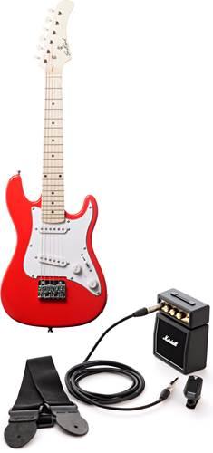 EastCoast GK20 Red Mini Electric Guitar Pack