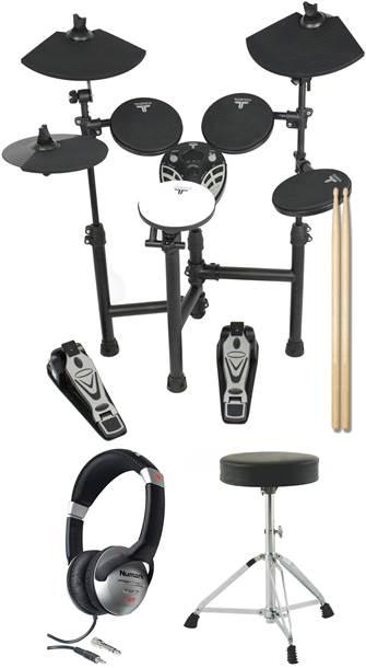 TOURTECH TT-12S Portable Electronic Drum Kit Pack