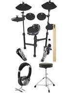 TOURTECH TT-12SM Portable Electronic Drum Kit Pack