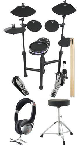 TOURTECH TT-12SM Portable Electronic Drum Kit Pack