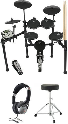 TOURTECH TT-16S 5 Piece Electronic Drum Kit Pack