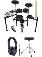 TOURTECH TT-22M 5 Piece All Mesh Electronic Drum Kit Pack
