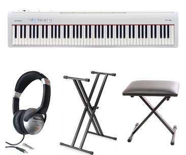 Roland FP-30 White Digital Piano Pack