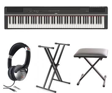 Yamaha P125 Black Digital Piano Pack