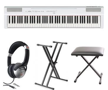 Yamaha P125 White Digital Piano Pack