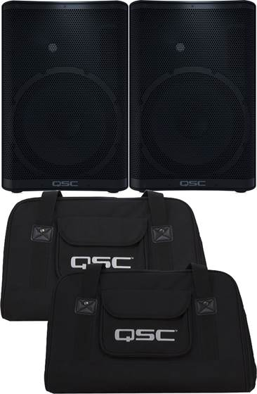 QSC CP12 Pair with Tote Bags