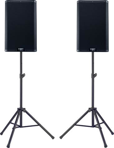 QSC K10.2 Pair with Stands