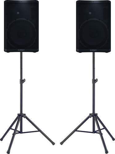 QSC CP12 Pair with Stands