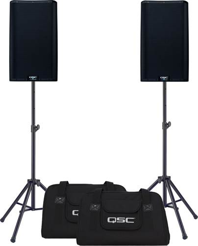 QSC K12.2 Pair with Tote Bags and Stands