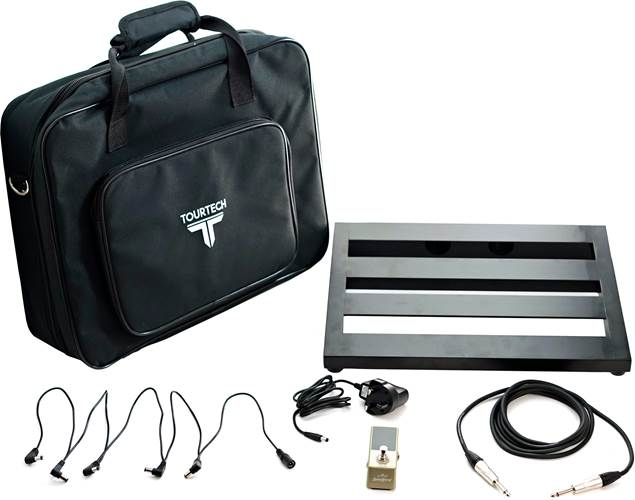 TOURTECH 4-B Pedalboard and Tuner Starter Pack