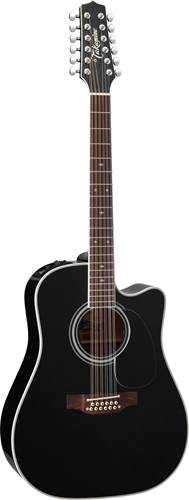 Takamine EF381SC 12 String Electro Acoustic Black Gloss
