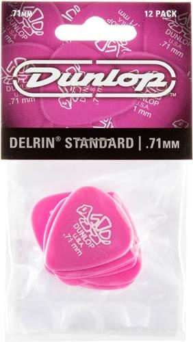 Dunlop 41P.71 Delrin 500 Standard 12/Play Pack Picks