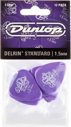 Dunlop 41P1.5 Delrin 500 Standard 12/Play Pack Picks