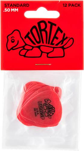 Dunlop 418P .50 Tortex Red Standard 12/Play Pack Picks