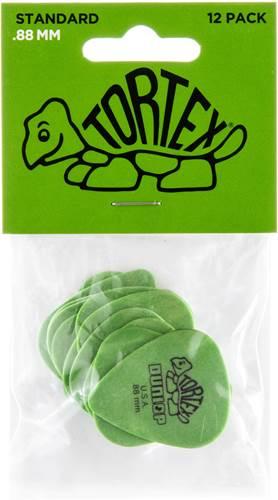 Dunlop 418P .88 Tortex Green Standard 12/Play Pack Picks